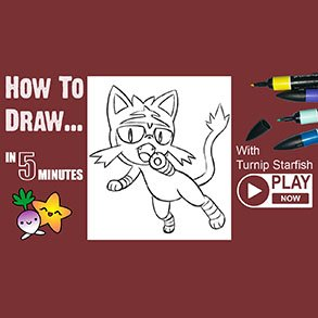 how to draw Litten